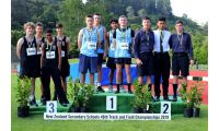 2018 Athletics Nationals Dunedin December 4 x 100m team